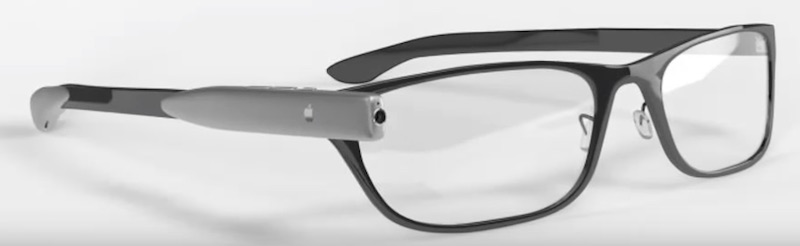 ilsutrasi penampakan kacamata AR Apple