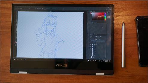 tampilan lipat ASUS VivoBook Flip TP412