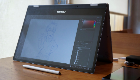 tampilan ASUS VivoBook Flip TP412